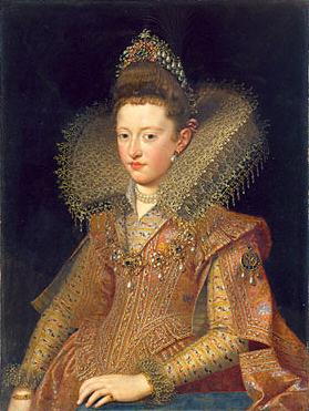 Ritratto di Margherita Gonzaga, opera di Frans Pourbus il giovane.