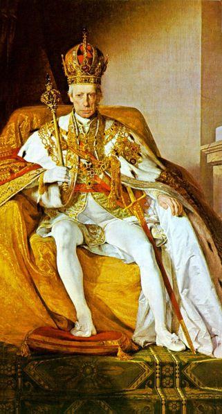 Ritratto di Francesco II imperatore del SRI, alias Francesco I imperatore d'Austria.
