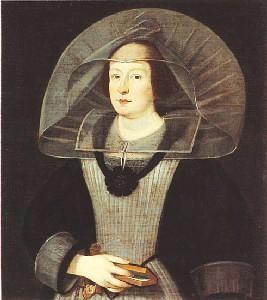 Ritratto di Maria Gonzaga. Curtatone (MN), santuario di Santa Maria delle Grazie.