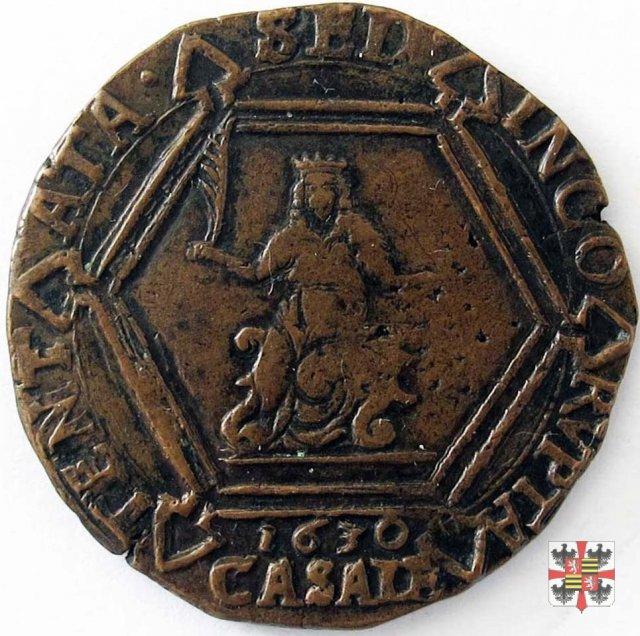10 fiorini ossidionale con i tre gigli 1630 (Casale)