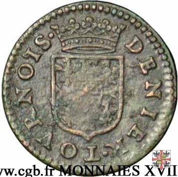 Denier tournois 1609 (Charleville)