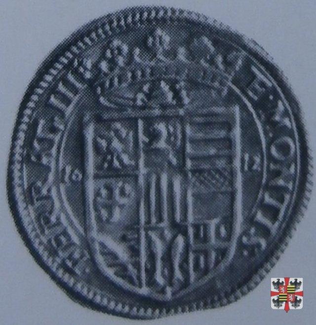 Doppia con la croce di Gerusalemme 1612 (Casale)