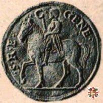 Doppio ducato col marchese a cavallo  (Mantova)