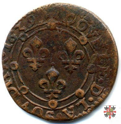 Double tournois con i gigli 1639 (Charleville)