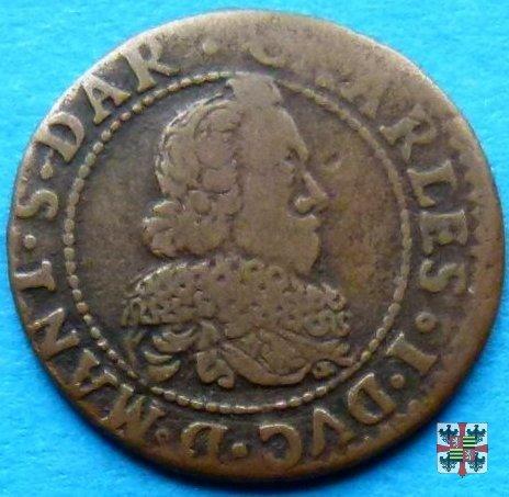 Double tournois con i tre gigli 1634 (Charleville)