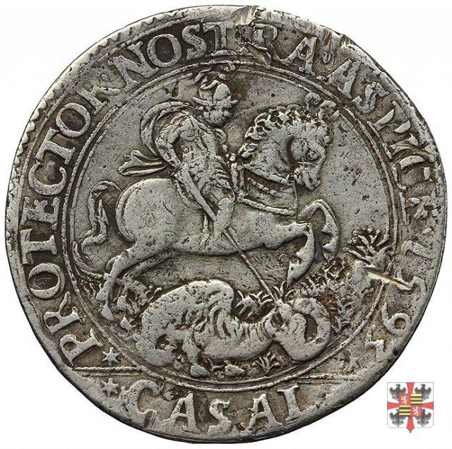 Ducatone con S.Giorgio a cav. (ritr. maturo a d.) 1593 (Casale)