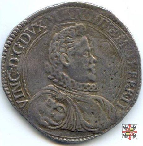 Ducatone con S.Giorgio a cav. (ritr. maturo a d.) 1594 (Casale)