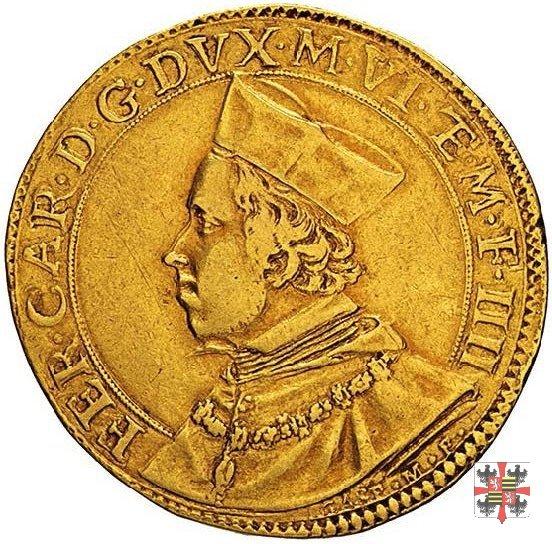 Due doppie con i due angeli e il reliquiario 1613 (Mantova)
