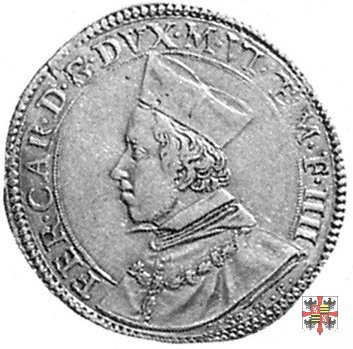 Due doppie con i due angeli e il reliquiario 1614 (Mantova)