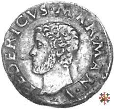 Grossetto con Santa Caterina stante  (Mantova)
