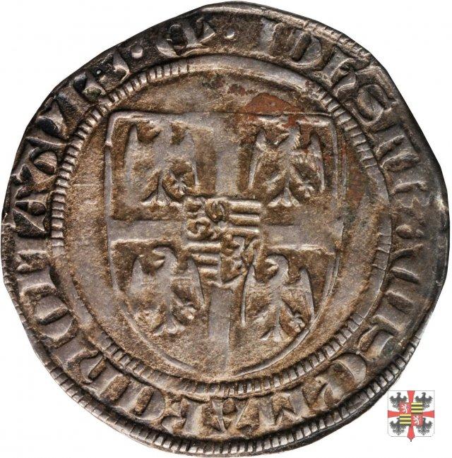 Grosso con lo stemma e la veduta di Mantova  (Mantova)