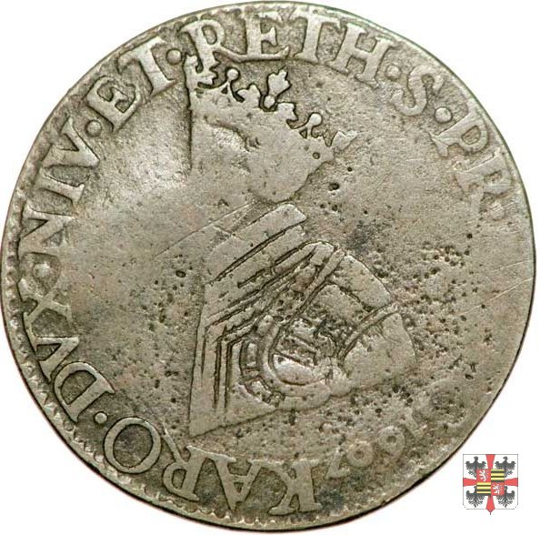 Liard testa coronata 1607 (Charleville)