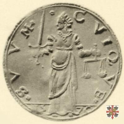 Lira con la Giustizia e busto a s. 1570 (Casale)
