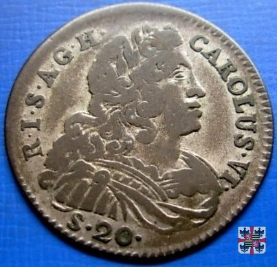 Lira da venti soldi 1736 (Mantova)