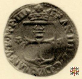 Mezza Lira da 10 soldi col crogiuolo 1612 (Mantova)