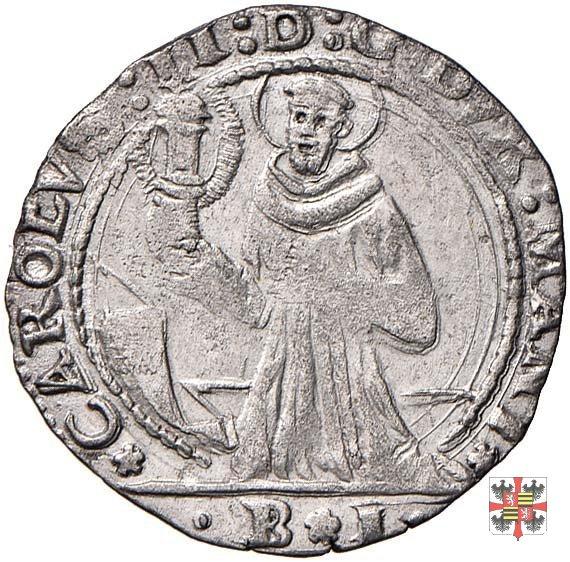 Mezza lira col beato Jacopo della Marca  (Mantova)