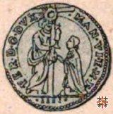 Mezza lira con la Vergine in ellisse di stelle  (Mantova)