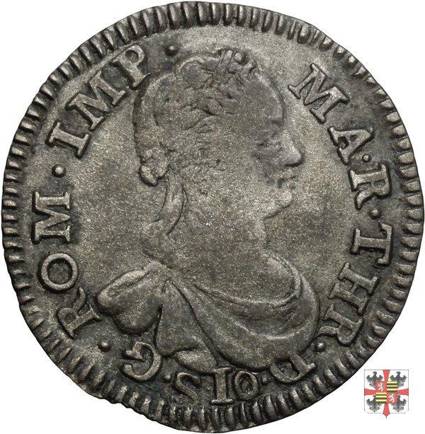 Mezza lira da dieci soldi 1750 (Mantova)
