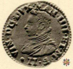 Mezza lira dell'incoronazione, con il crogiuolo 1587 (Mantova)
