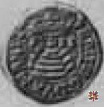 Mezzo bianco con monte Olimpo e stemma  (Casale)