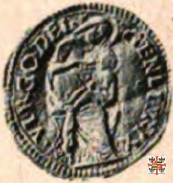 Mezzo ducato con la Vergine e il monte Olimpo  (Mantova)