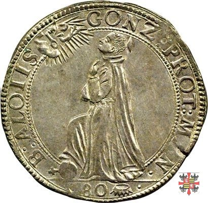 Mezzo ducatone col beato Luigi Gonzaga  (Mantova)