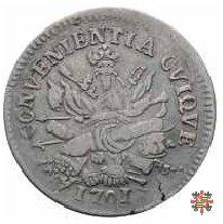 Mezzo scudo col trofeo d'armi 1701 (Mantova)