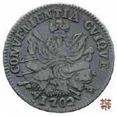 Mezzo scudo col trofeo d'armi 1702 (Mantova)