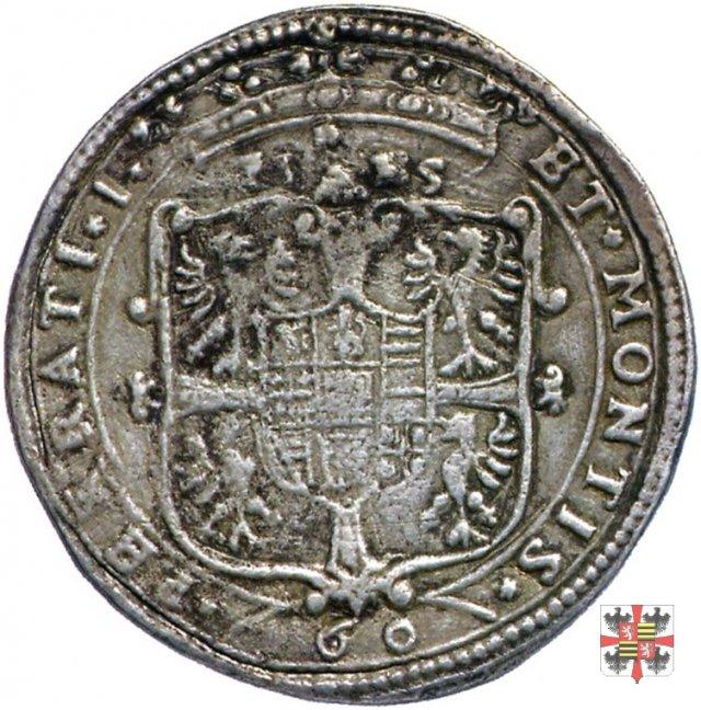 Mezzo scudo da 60 soldi con lo stemma  (Mantova)