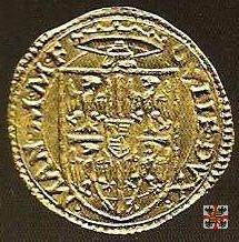 Mezzo scudo d'oro con Sant'Adriano  (Mantova)