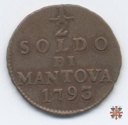 Mezzo soldo 1793 (Mantova)