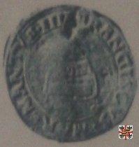 Mezzo soldo col monte Olimpo e il crogiuolo  (Mantova)