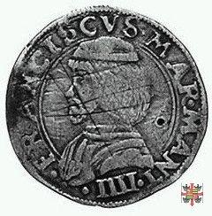 Mezzo testone (bussolotto) col reliquiario  (Mantova)
