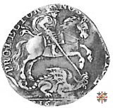 Ottavo di ducatone con San Giorgio a cavallo 1664 (Mantova)