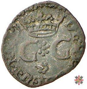 Quarto con lettere G G coronate e croce 1577 (Casale)