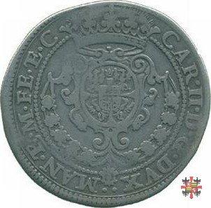 Quarto di ducatone con San Giorgio a cavallo 1664 (Mantova)