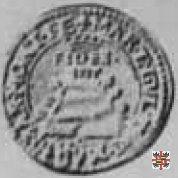 Quarto di lira con Sant'Evasio 1563 (Casale)