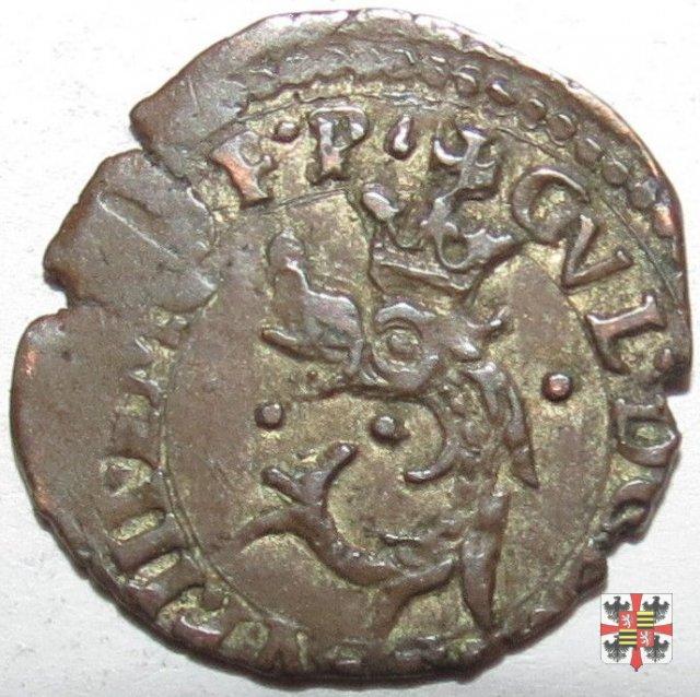 Quarto (liard) con il delfino coronato a s. 1583 (Casale)