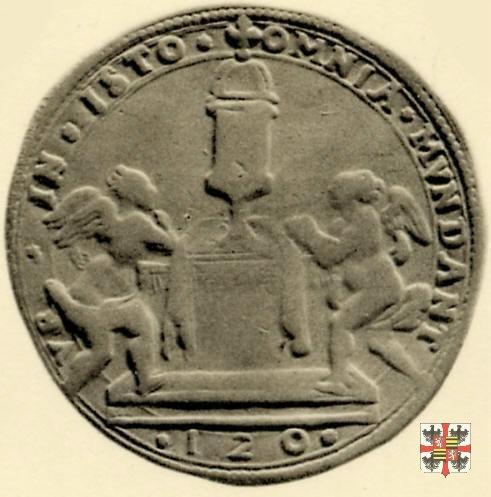 Scudo da 120 soldi con i 2 angeli e il reliquiario  (Mantova)