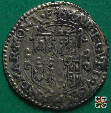 Scudo d'oro con croce filettata e stemma partito 1565