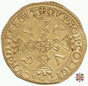 Scudo d'oro croce filettata/stemma Mantova-Gonzaga  (Casale)