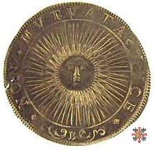 Sei doppie con il sole raggiante 1614 (Mantova)