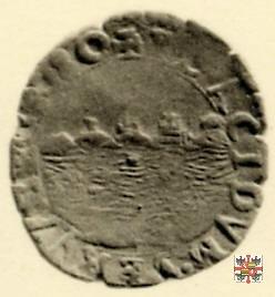 Soldo con corso d'acqua e busto a d. 1580 (Casale)