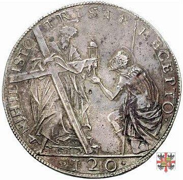 Tallero con S.Andrea e S.Longino 1612 (Mantova)
