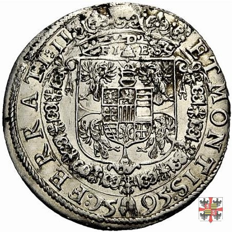 Tallero tipo Sassonia 1595 (Mantova)