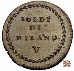 V soldi di Milano 1799 (Mantova)