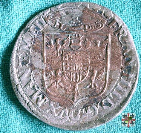 Lira da 20 soldi con Sant'Anselmo  (Mantova)