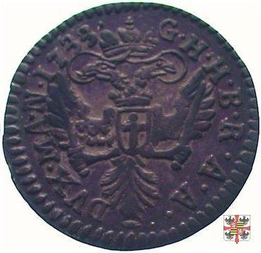 Mezza lira da dieci soldi 1733 (Mantova)