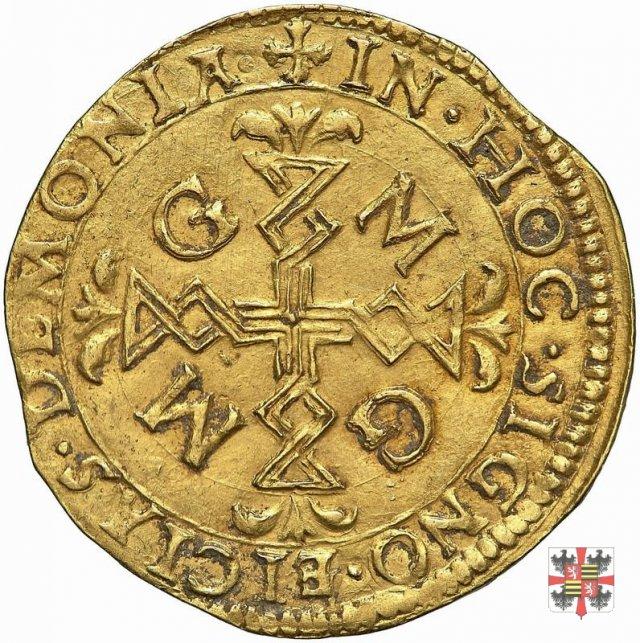 Scudo d'oro con croce filettata e stemma partito  (Casale)