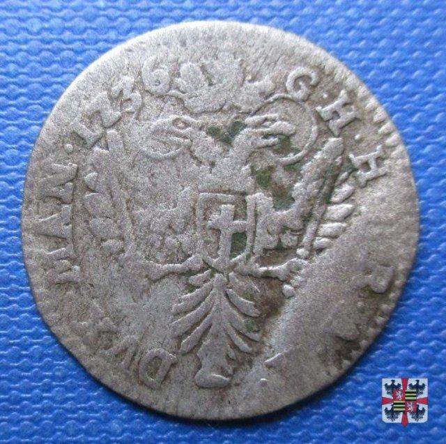Mezza lira da dieci soldi 1736 (Mantova)